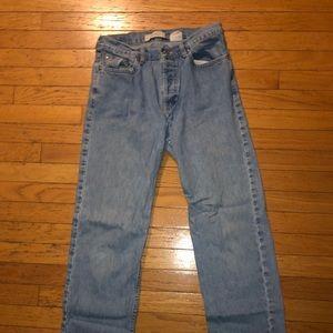 Ladies size 8 low rise Gap light Jeans